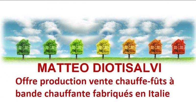 DIOTISALVI MATTEO - Offre production vente chauffe-fûts à bande chauffante fabriqués en Italie