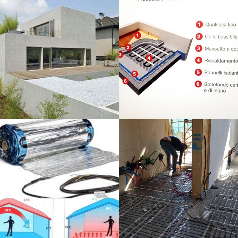 Occasione sistemi ecologici per riscaldamento elettrico a pavimento anche parziale
