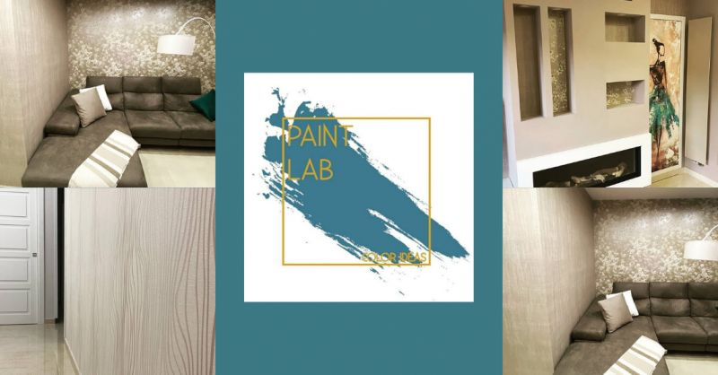 PAINT LAB - offerta vendita carta da parati elegante soggiorno napoli