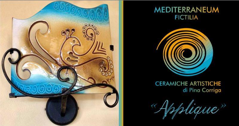 Mediterraneum Fictilia laboratorio Solarussa - offerta applique ceramica artigianato sardo