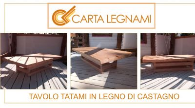 carta legnami offerta moderno tavolo tatami in legno massello di castagno
