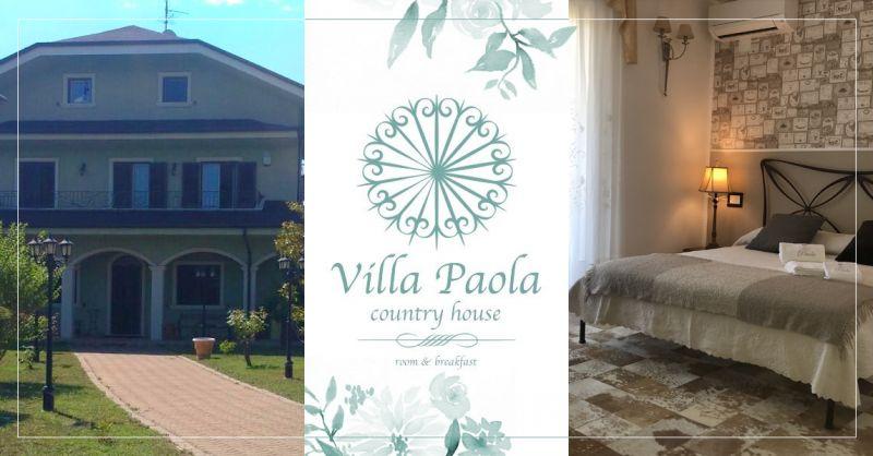 VILLA PAOLA COUNTRY HOUSE - offerta camere suite francavilla al mare abruzzo
