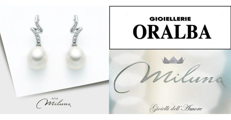 Gioellerie ORALBA - Occasione vendita GIOIELLI orecchini madreperla Miluna A CUNEO ALBA VALENZA