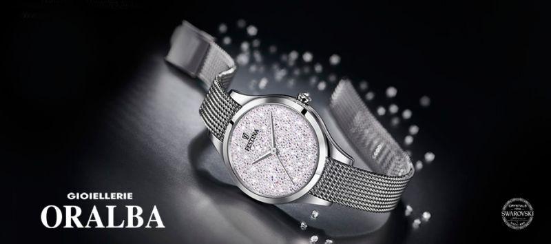 Gioiellerie ORALBA - offerta orologio FESTINA madmoiselle con SVAROWSKI Cuneo Alba Valenza