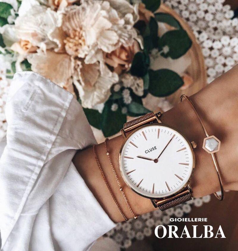 GIOIELLERIE ORALBA - Offerta Orologi Cluse Maglia Milano Donna Uomo Alba Cuneo Valenza