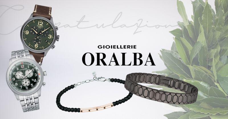 GIOIELLERIE ORALBA - Offerta Idea Regalo Laurea Ragazzo Alba Cuneo Valenza