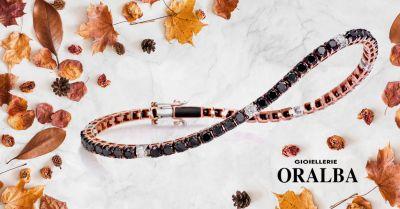 gioielleria oralba offerta tennis diamanti nero oro rose alba cuneo valenza