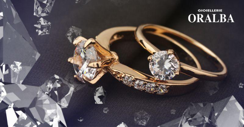 Offerta Gioielli con Diamanti Oralba Alba Cuneo - Occasione Anello con Diamante Autentico Alba Cuneo