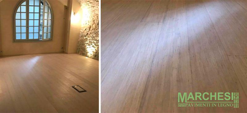 MARCHESI PAVIMENTI IN LEGNO posa parquet ecologico bamboo palestra - pavimenti in legno palestre