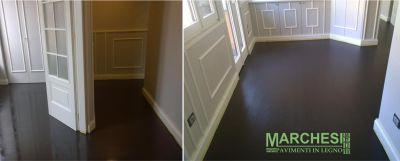 marchesi pavimenti in legno rovere sbiancato con microresina ridisegnare parquet esistenti