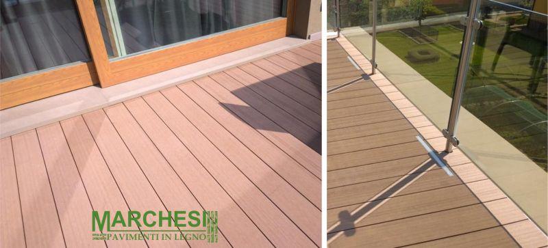 MARCHESI PAVIMENTI IN LEGNO posa pavimenti balcone greenwood - pavimenti esterno antisdrucciolo