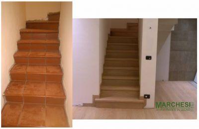 marchesi pavimenti in legno rivestimento piastrelle in legno di rovere ristrutturazione scale