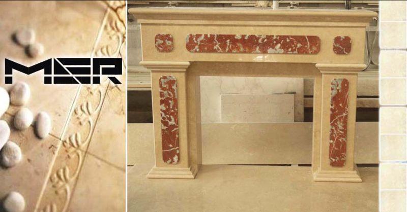 Offerta  rivestimenti caminetti in marmo Roma - Occasione realizzazione Scale in Marmo Tivoli