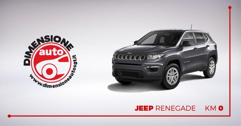 DIMENSIONE AUTO offerta vendita jeep renegade km 0 - occasione concessionaria jeep pescara