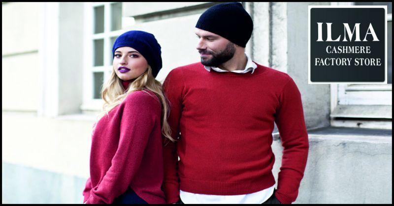 Maglificio ilma offerta maglieria uomo e donna - occasione capi di maglieria in cashmere