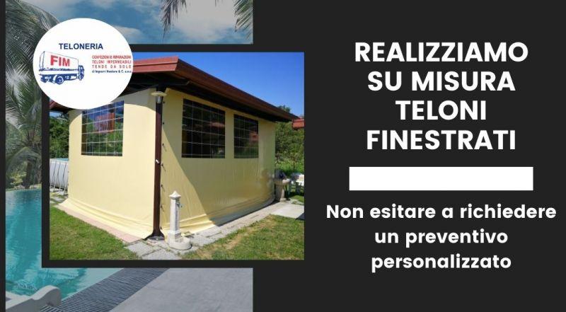Vendita teloni su misura finestrati in pvc a Modena – Occasione Teloni Tarp-cover (in polietilene) a Modena