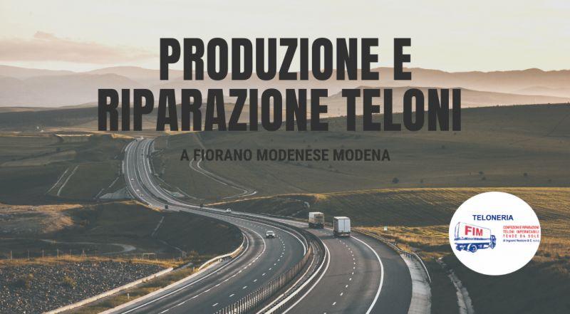 REALIZZAZIONE Teloni per copertura autocarri a Modena – vendita teli e teloni impermeabili in nylon e PVC per autocarri, camion e rimorchi a Modena