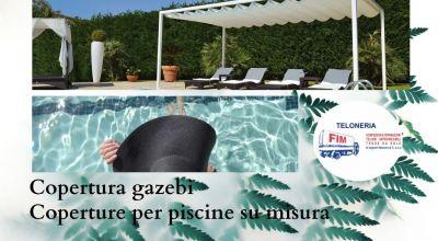 vendita realizzazione e riparazione coperture per piscine in pvc su misura modena offerta realizzazione e riparazione gazebo su misura per il giardino a modena