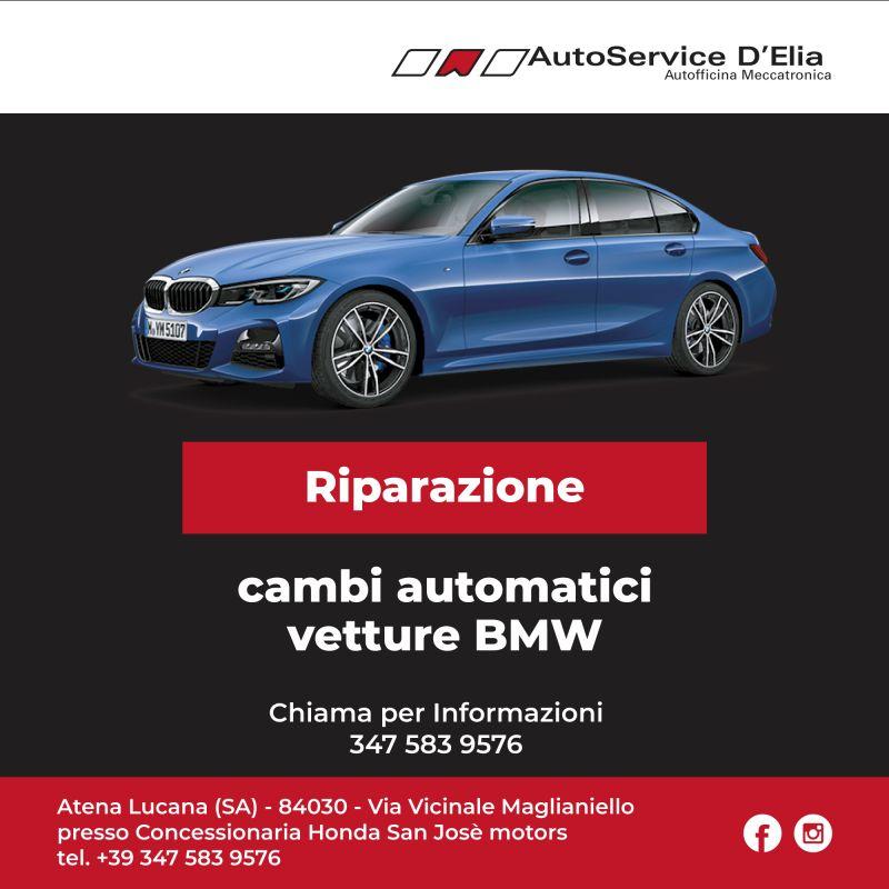 Riparazione cambio automatico su vettue BMW.