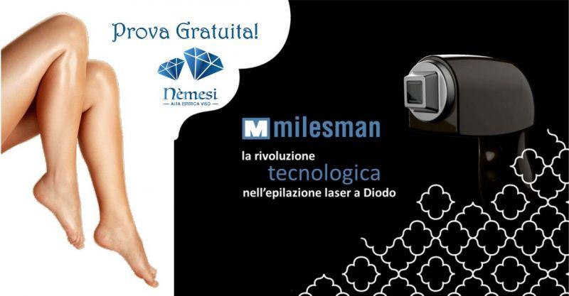 Nemesi studio estetico - offerta prova gratuita Milesman Laser a Diodo epilazione definitiva