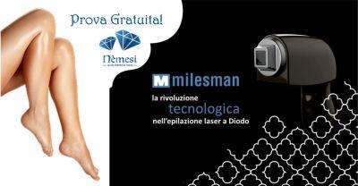 nemesi studio estetico offerta prova gratuita milesman laser a diodo epilazione definitiva