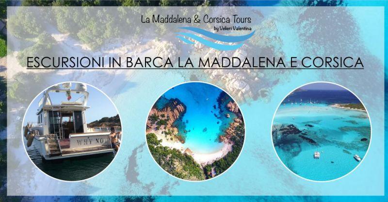 offerta escursione in barca arcipelago Maddalena Corsica  - promozione vacanza spiagge Sardegna