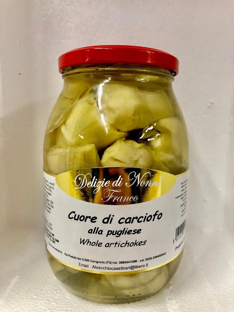 Offerta conserve pugliesi - Carciofi sott'olio - Offerta Cuore di carciofo - Whole artichokes