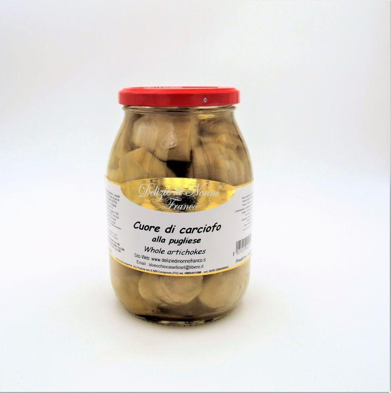 Offerta carciofi pugliesi - Carciofi sott'olio - Offerta Cuore di carciofo - Whole artichokes