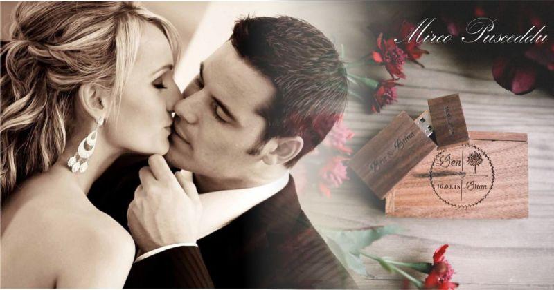 MIRCO PUSCEDDU - offerta servizio fotografico matrimonio box pen drive wedding