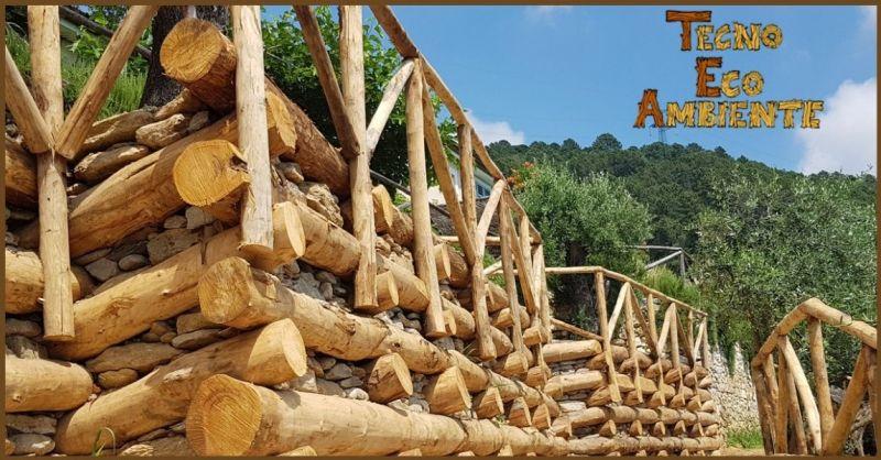 Palificate in legno per contenimento terra Versilia - TECNOAMBIENTE SAS