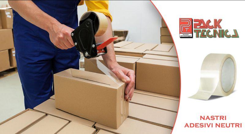 Pack Tecnica - offerta nastri adesivi neutri per imballo parma - promozione distribuzione nastri adesivi neutri parma