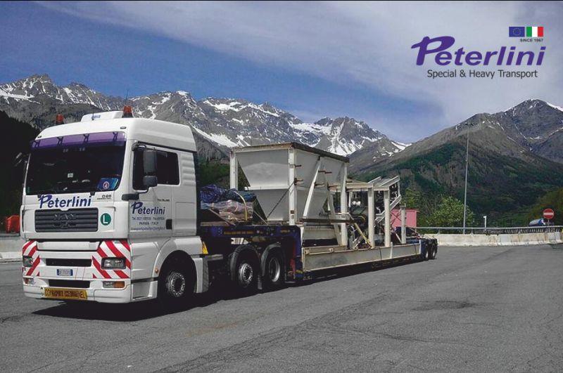 TRASPORTI PETERLINI offerta trasporti internazionali speciali - trasporto estero straordinario