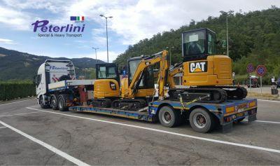 trasporti peterlini offerta trasporto macchine operatrici promo trasporto mezzi da cantiere