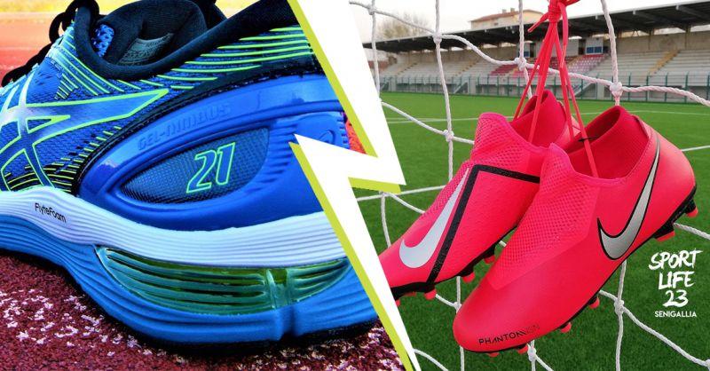 offerta scarpe sportive da running senigallia - occasione scarpe da calcio calcetto senigallia
