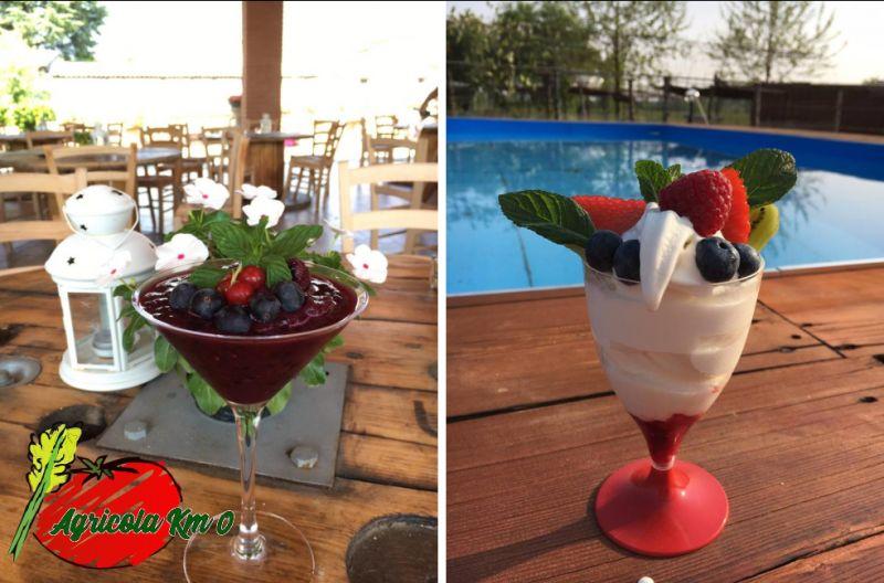 AZIENDA AGRICOLA KM ZERO offerta granite con frutta fresca - promozione smoothies frutta km 0