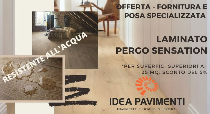 Offerta laminato resistente all'acqua pergo sensation a Treviso – Vendita fornitura e posa specializzata laminato a Treviso