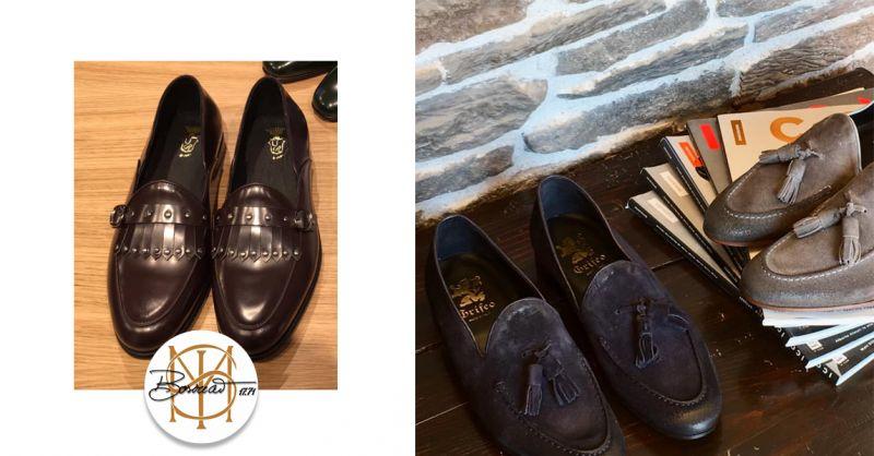 offerta calzatura pantofolina uomo marsala - occasione mocassino con frange nappe trapani