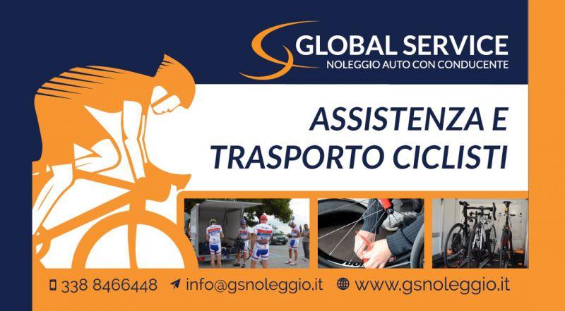 Carrello per il trasporto delle biciclette, assistenza ciclisti