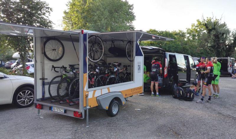 Trasporto biciclette con carrello