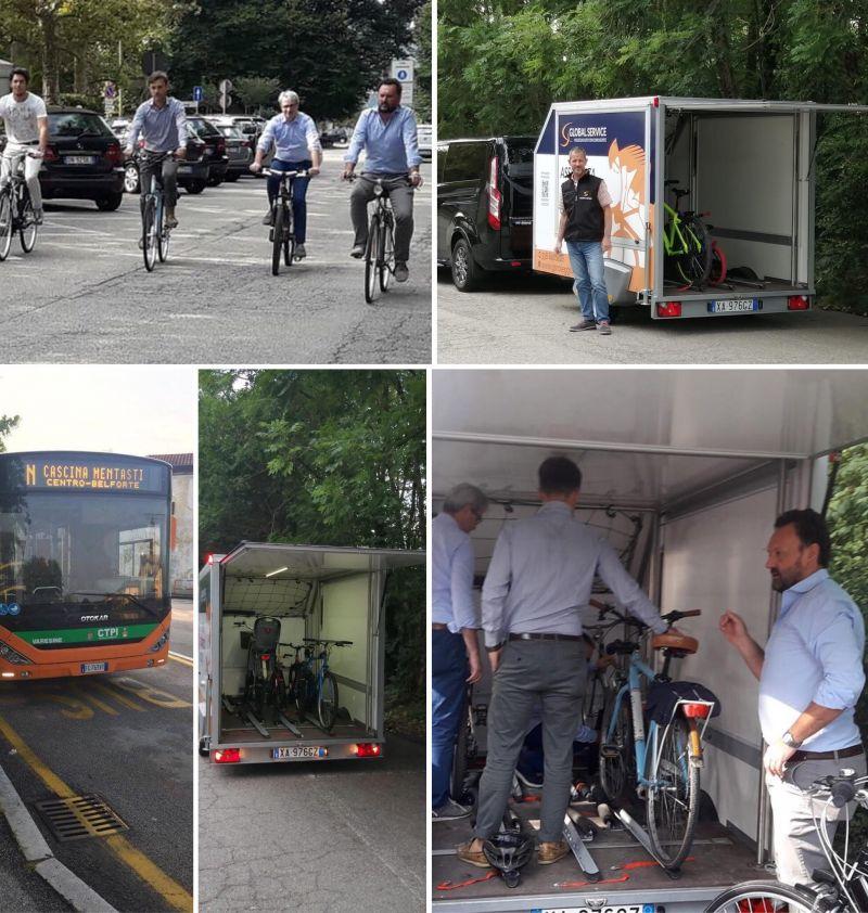 Carrello Global Service a servizio autobus di linea di Varese