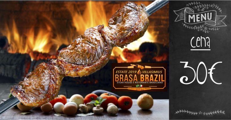 BRASA BRAZIL VILLASIMIUS - offerta menu fisso cena ristorante brasiliano