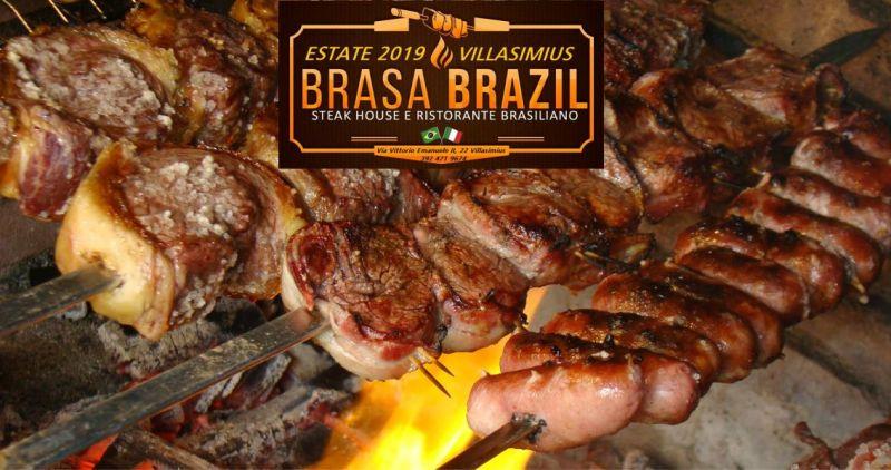 BRASA BRAZIL RISTORANTE VILLASIMIUS - OFFERTA CARNE COTTA ALLO SPIEDO CHURRASCO
