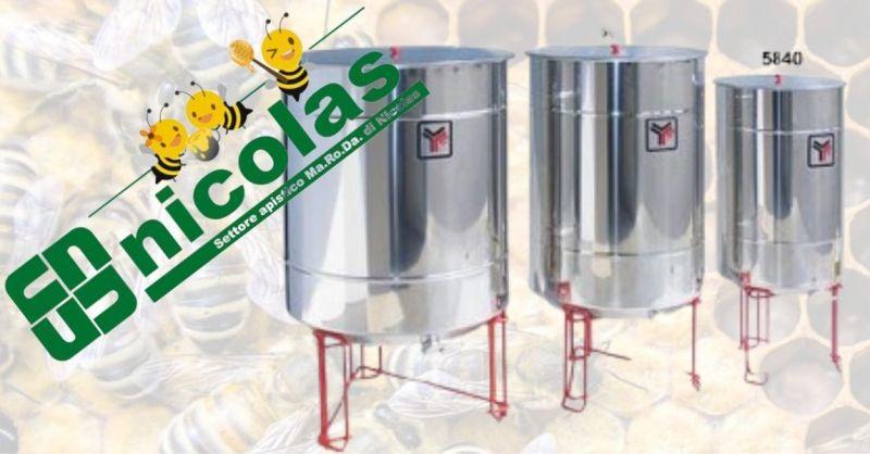 Nicolas Srl - Offerta vendita maturatore fondo scarico totale e rubinetto a taglio in plastica