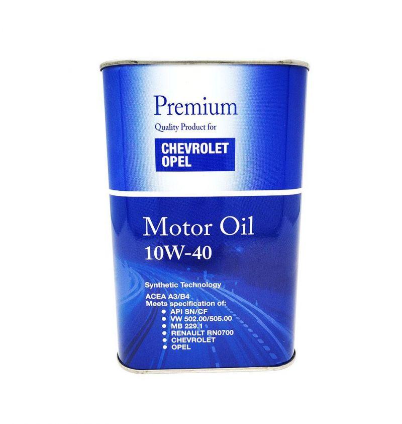 OFFERTA OLIO MOTORE PREMIUM QUALITY CHEVROLET OPEL 10W40 ACEA A3/B4