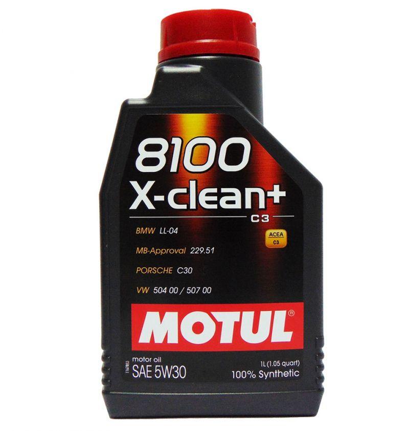 OFFERTA OLIO MOTORE MOTUL 8100 X-CLEAN+ SAE 5W30 100% SINTETICO 1L