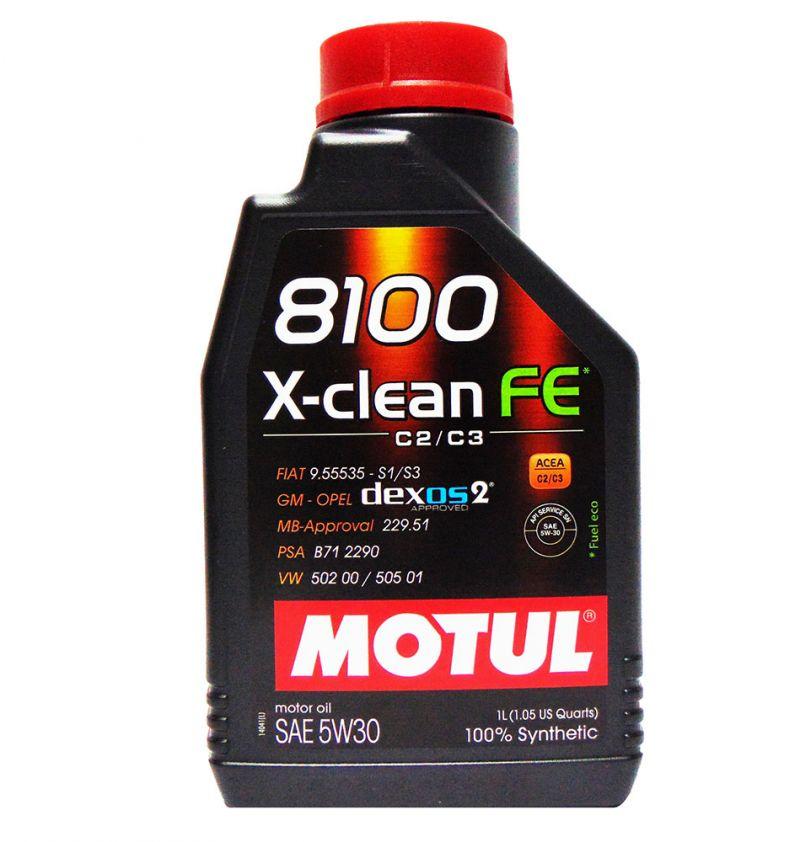 OFFERTA OLIO MOTORE MOTUL 8100 X-CLEAN FE SAE 5W30 100% SINTETICO 1L