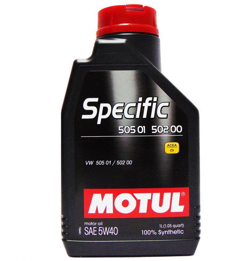 OFFERTA OLIO MOTORE MOTUL SPECIF 505 01-502 00 SAE 5W40 100% SINTETICO 1L
