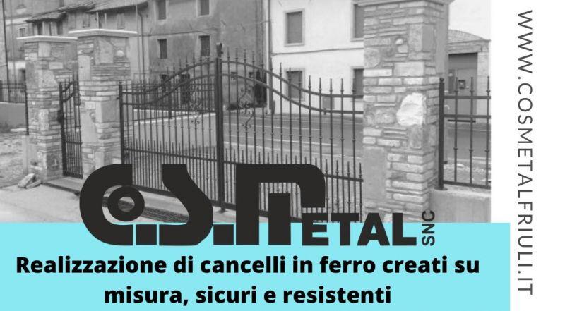 Occasione realizzazione cancelli in ferro su misura a Udine - Vendita ringhiere e recinzioni in ferro a Udine