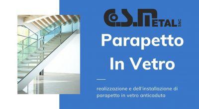 occasione realizzazione e installazione di parapetto in vetro anti caduta a udine vendita parapetti delle balaustre e delle pensiline in vetro a udine