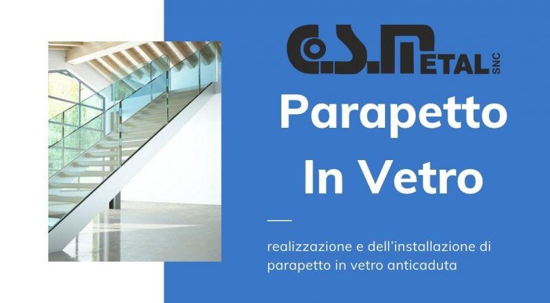 Occasione realizzazione e installazione di parapetto in vetro anti caduta a Udine – Vendita parapetti, delle balaustre e delle pensiline in vetro a Udine